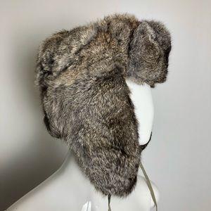 Genuine Rabbit Fur winter Trapper's Hat